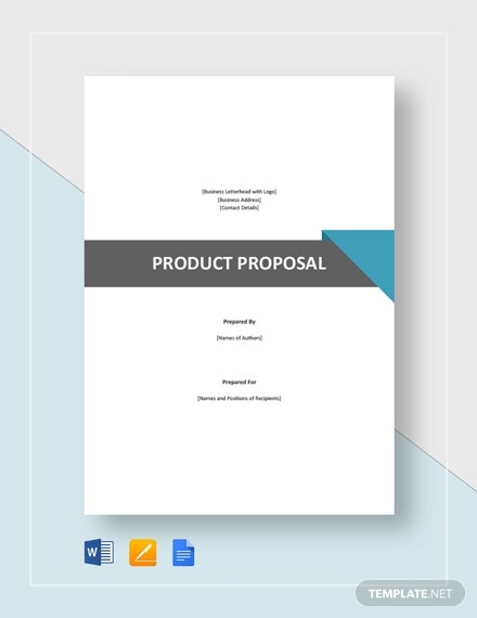 multipurpose product sales proposal layout