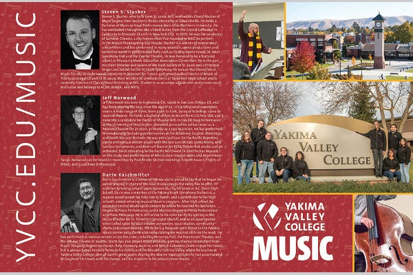 music college brochure