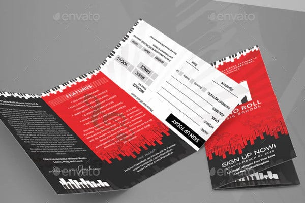 music college creative art brochure
