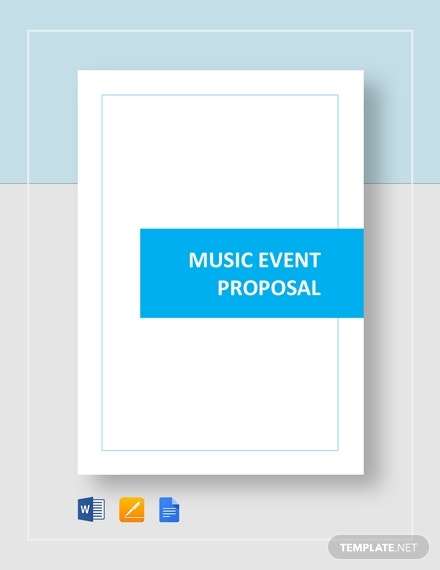 music event management proposal example