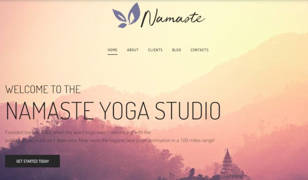 namaste – responsive wordpress theme