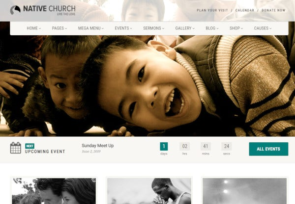 native church html5 wordpress theme