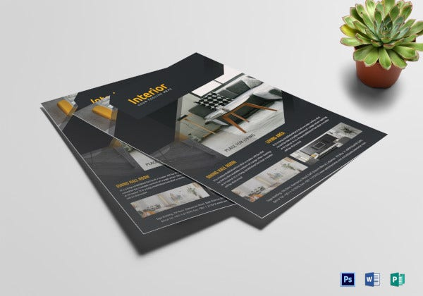 new interior construction flyer template