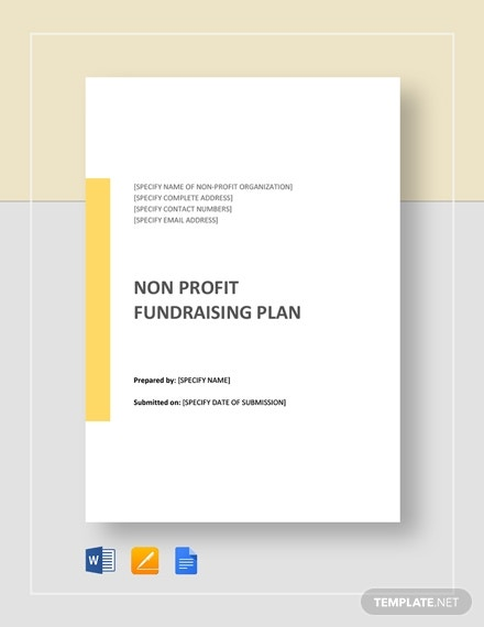 non profit fundraising plan