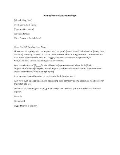 non profit letterhead in pdf