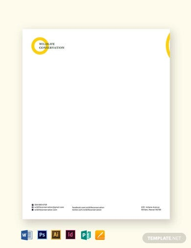 non profit letterhead template