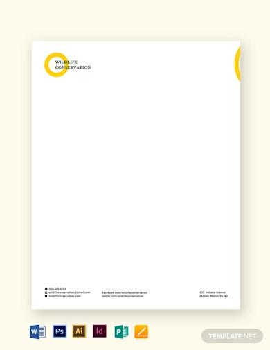 non profit letterhead template1