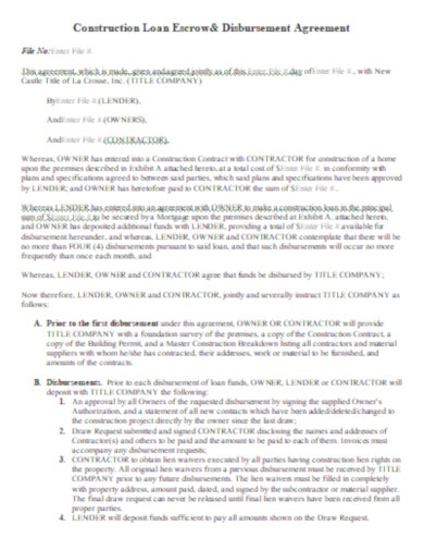 normal construction loan agreement template
