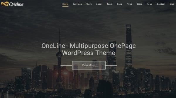 oneline drag and drop option wordpress theme