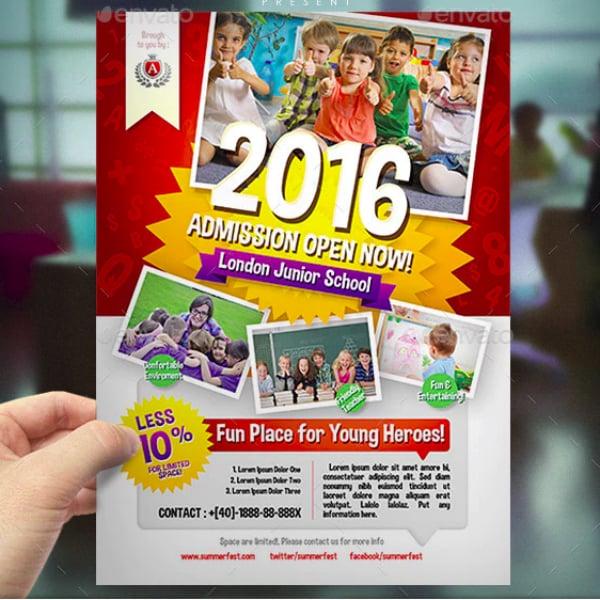 open admission kindergarten flyer template