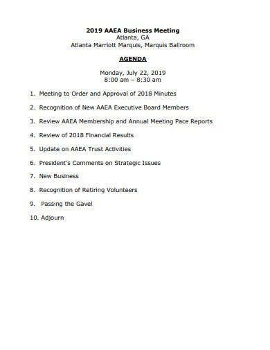 15  business meeting agenda templates in pdf