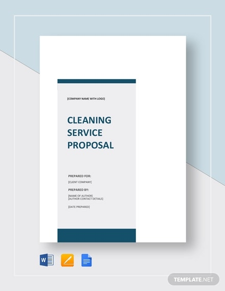 outlined cleaning service proposal sample