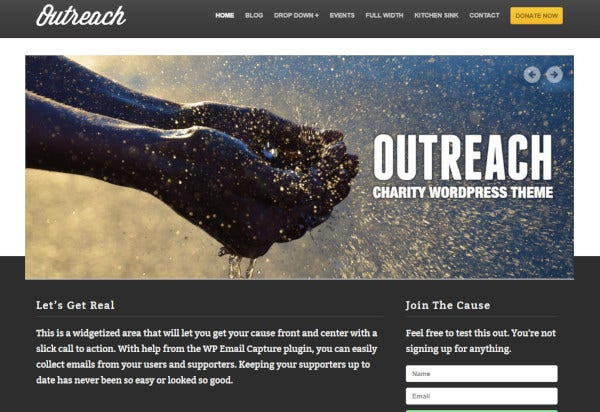 outreach retina ready wordpress theme