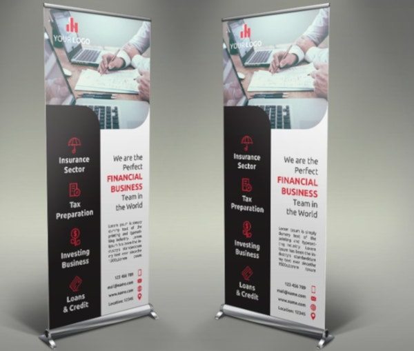 perfect financial roll up banner template