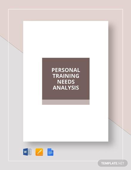 personal training needs analysis