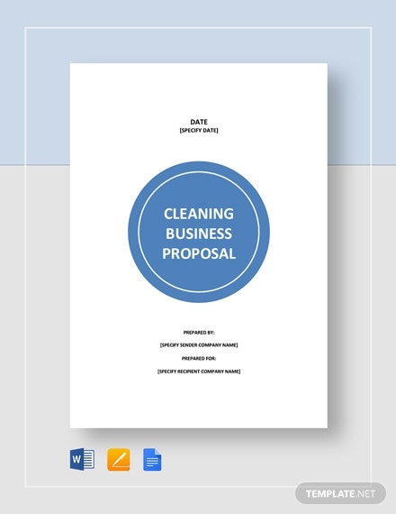 premium cleaning business proposal example
