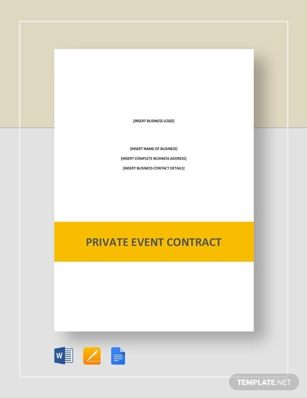 premium private event contract example