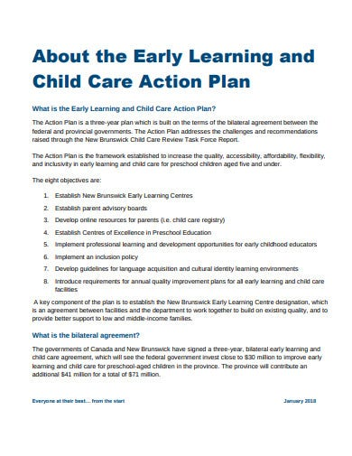 preschool action plan format