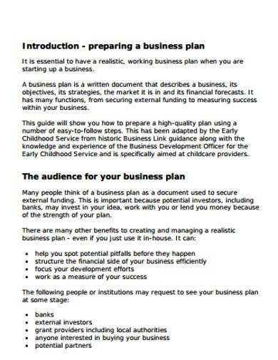 Playgroup business plan resume writing for consultants