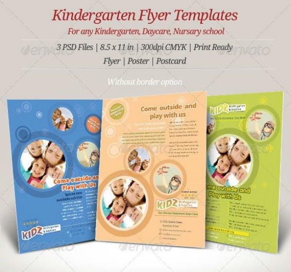 preview kindergarten flyerposter templates
