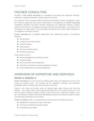 15 Consulting Company Profile Templates In Pdf Free Premium Templates