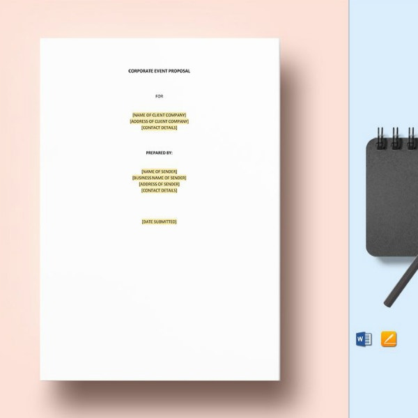 printable corporate event proposal template