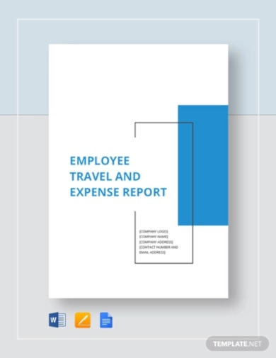 printable employee travel expense report template