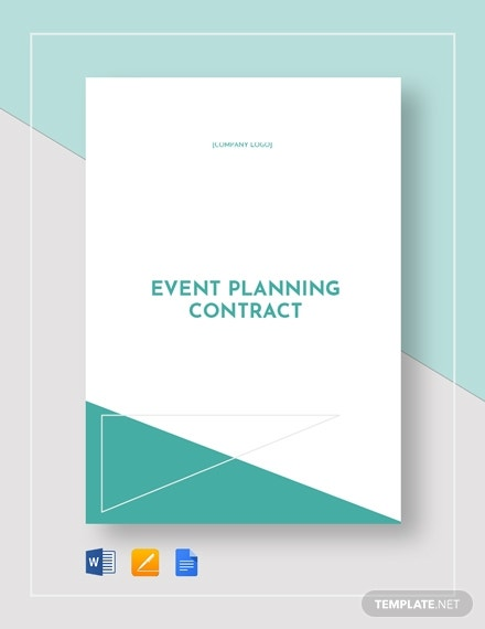 printable event planning contract template