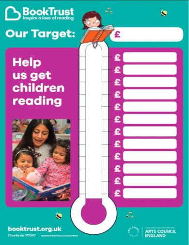 printable fundraiser chart template