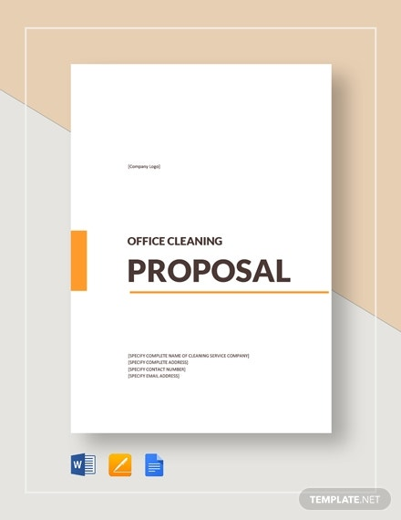 printable office cleaning proposal template