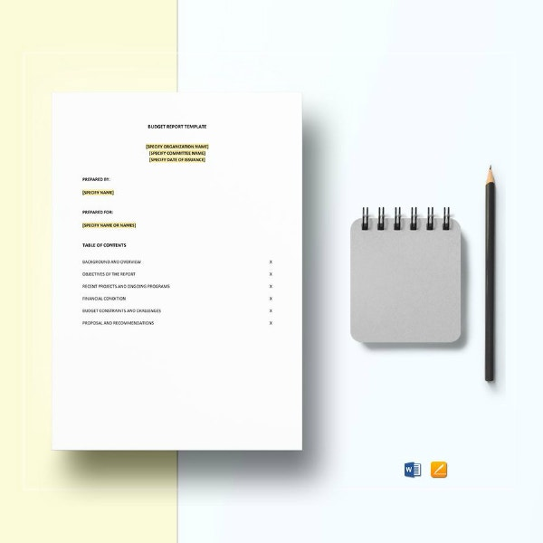 printable restaurant budget report sample