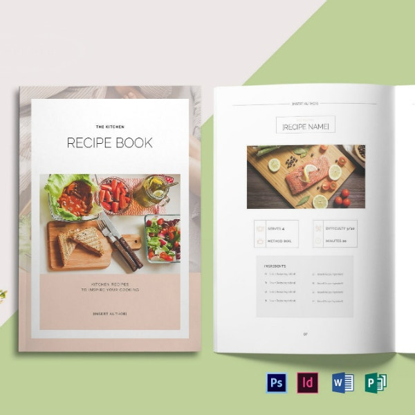 printable restaurant recipe book format
