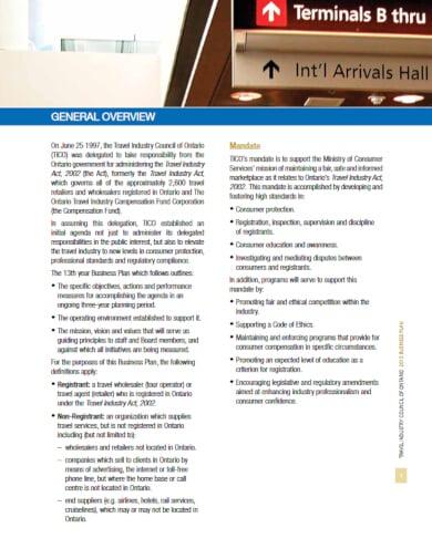 printable travel business plan