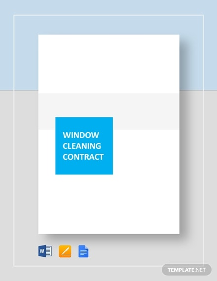 printable window cleaning contract template