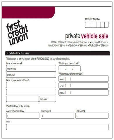 private car sale agreement pdf