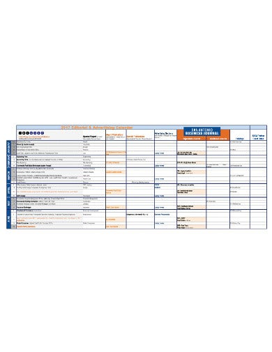 production calendar for advertising