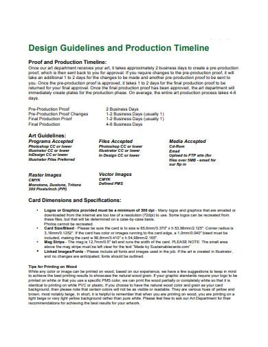 production design timeline