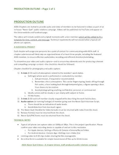 production outline example in pdf