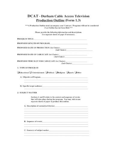 production outline in pdf