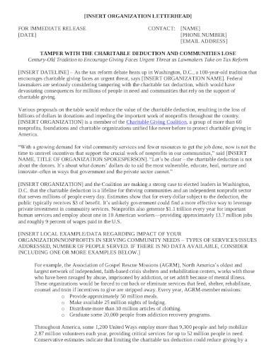 professional charity letterhead in pdf