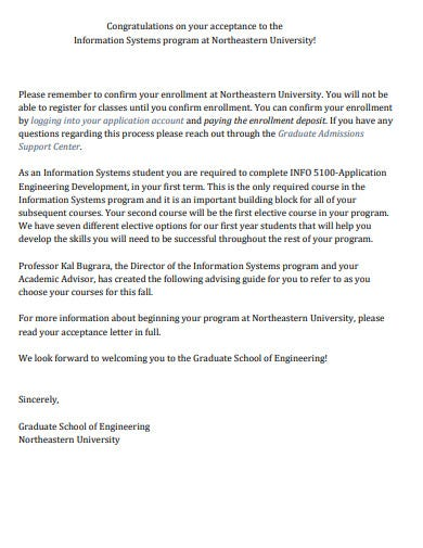 professional college acceptance letter