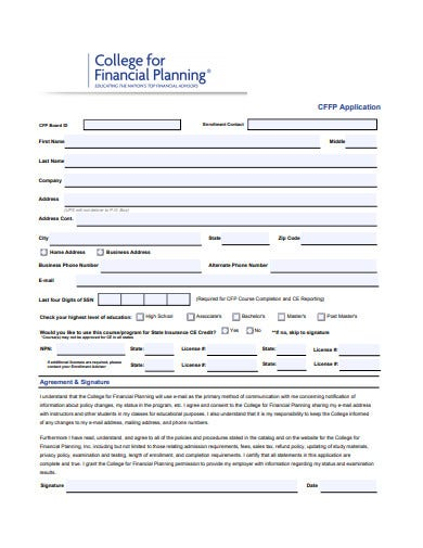 professional college financial plan template