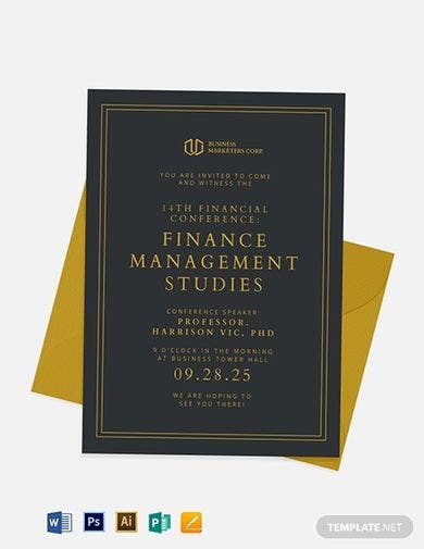 professional finance invitation template