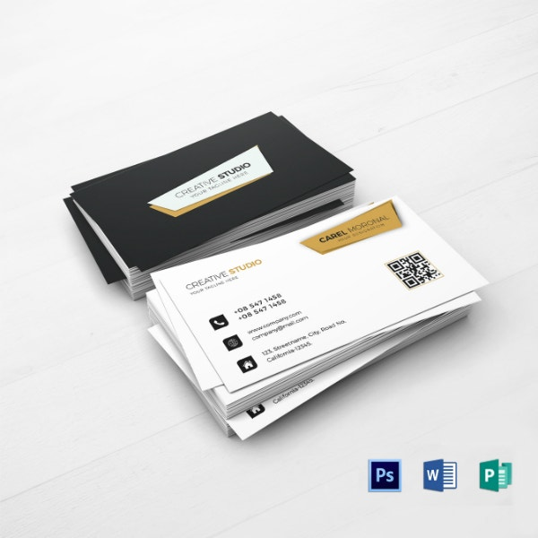 professional financial business card template
