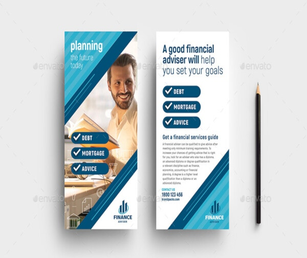 professional financial dl card template
