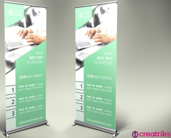 professional financial roll up banner template
