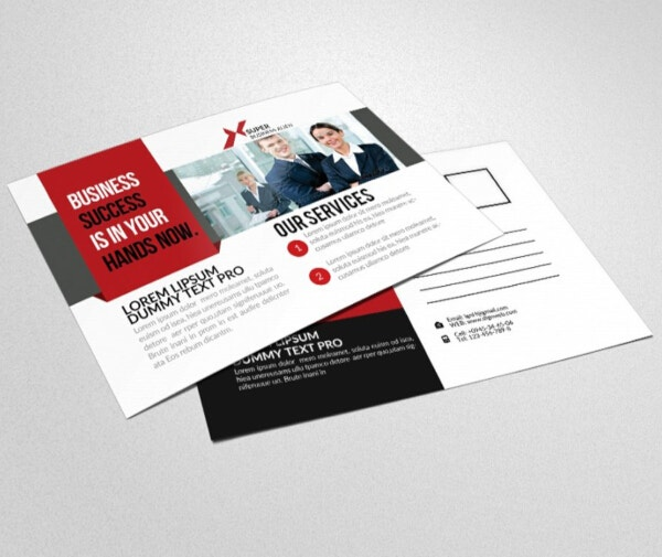 professional financial services postcard template