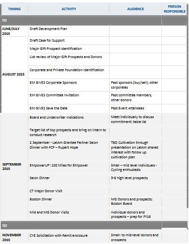 professional fundraiser worksheet template