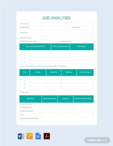 professional job analysis template