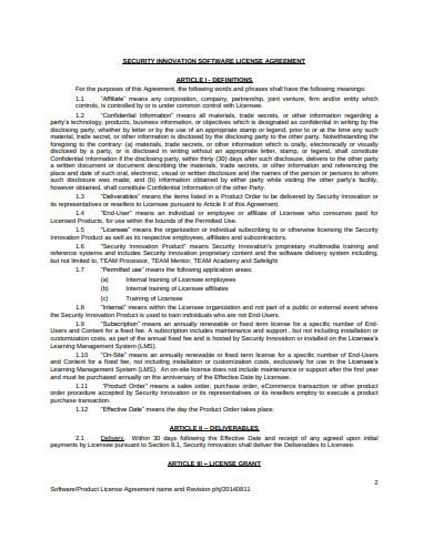 21 License Agreement Templates Google Docs Word Pages